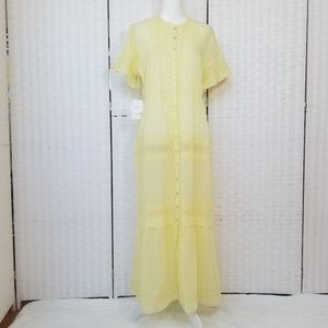 Wilfred Yellow Button Front Maxi Dress